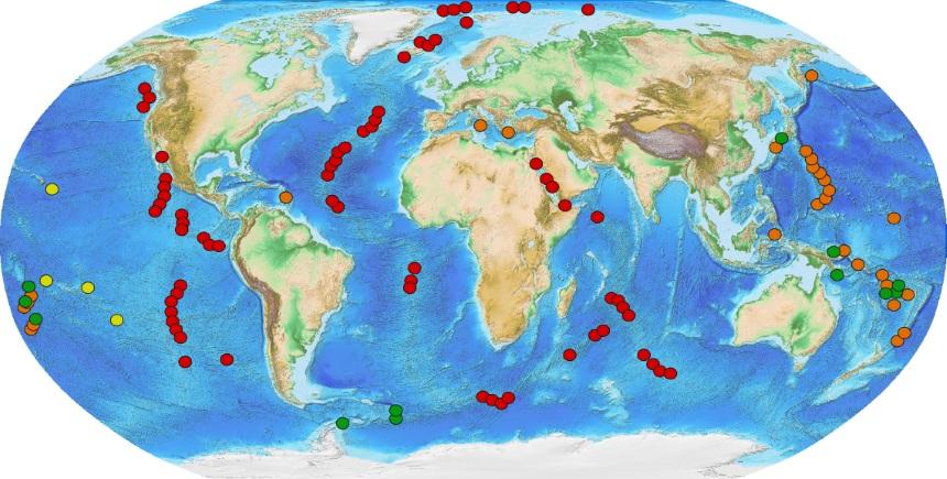 Galapagos Graphics: Hydrothermal Vents Map © NOAA
