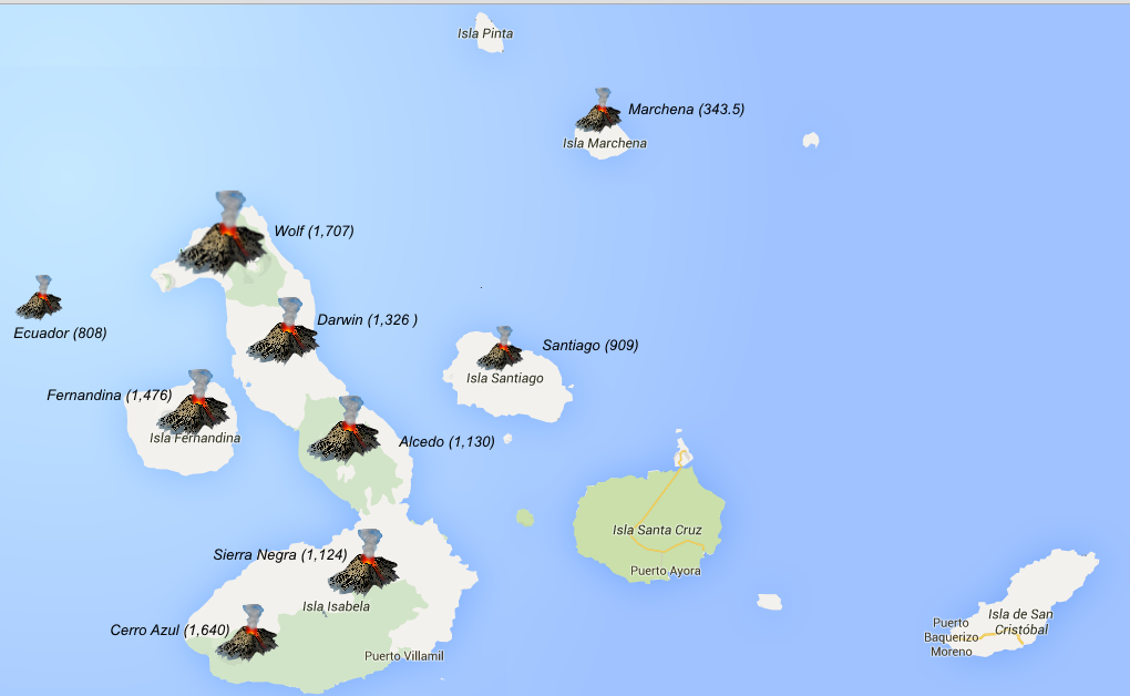 © Discovering Galapagos Blog | Data: IGEPN Map: GoogleMaps